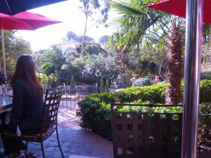 The view from our table at El Prado